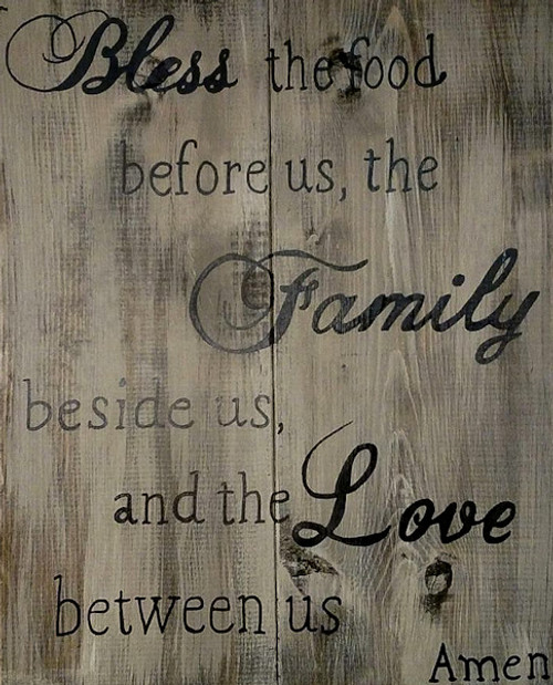 Decor sign - Bless the food before us, the family beside us, & the love between us | Naturally Montana