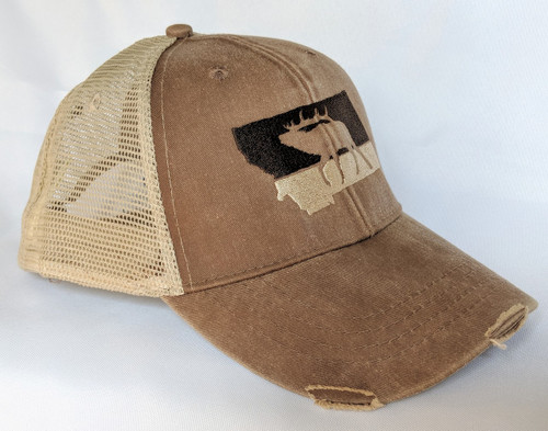 MT Brand Apparel Montana Elk Trucker Hat | Naturally Montana