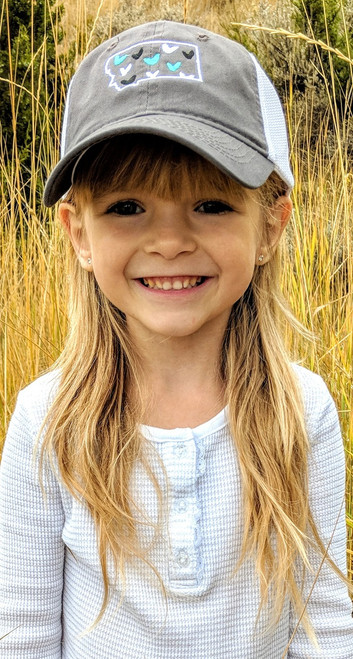 MT Brand Apparel Kids Montana w/ Mini Hearts Hat | Naturally Montana