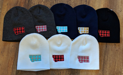 MT Brand Apparel Montana Plaid Beanies | Naturally Montana