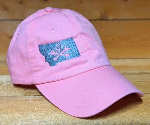 MT Brand Apparel KIDS MT w/ Heart Over Arrows Hat - Adjustable Front Side w/ Logo | Naturally Montana