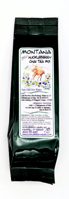 Huckleberry Haven | Wild Huckleberry Chai Tea Mix 2oz Serving | Naturally Montana