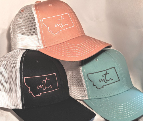 MT Brand Apparel Montana w/ Tiny Heart Hat Variety | Naturally Montana