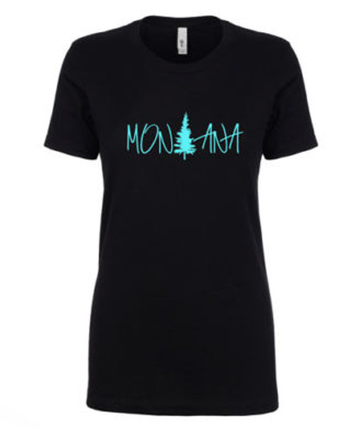MT Brand Apparel Montana Pine Tree Short Sleeve Unisex Tee | Naturally Montana