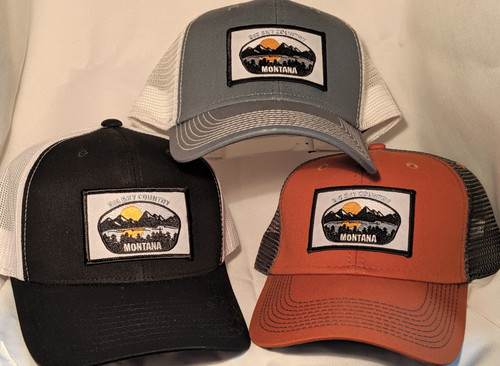 MT Brand Apparel Various Montana Big Sky Country Hats - Adjustable | Naturally Montana - Front