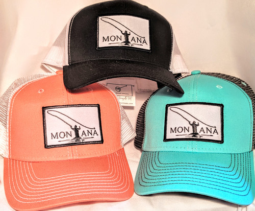 MT Brand Apparel Various Fly Fishing in Montana Hat - Adjustable | Naturally Montana - Front