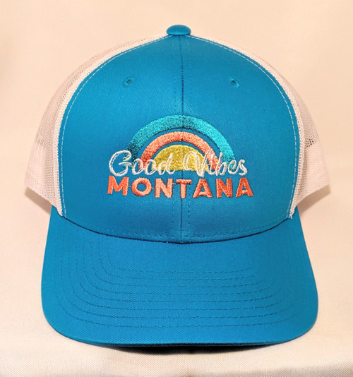 MT Brand Apparel Good Vibes Montana Hat - Adjustable | Naturally Montana - Front