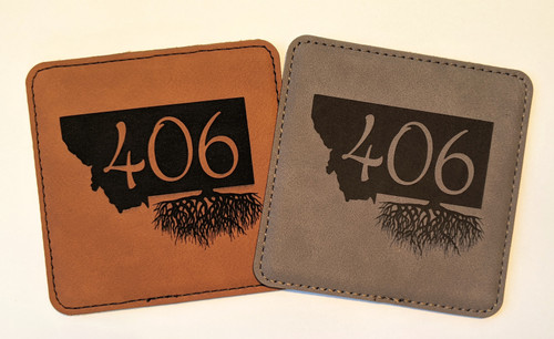 My Home in Montana Leatherette Coaster 406 Roots L2R : Rawhide, Gray | Naturally Montana