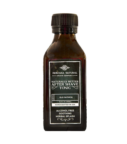 Montana Natural Shave Company All Natural Organic Old Faithful After Shave Tonic | Naturally Montana