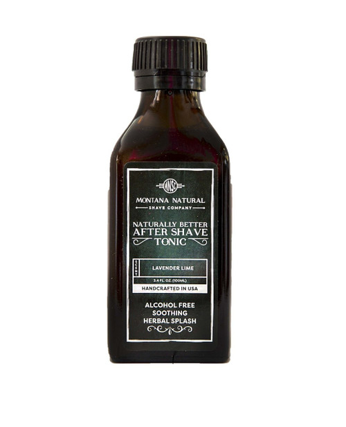 Montana Natural Shave Company All Natural Organic Lavender Lime After Shave Tonic | Naturally Montana