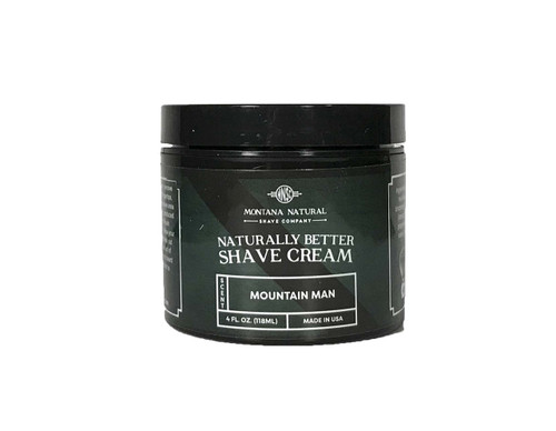 Montana Natural Shave Company Naturally Better Shave Cream Mountain Man 4 oz | Naturally Montana