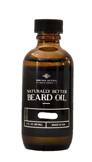 Montana Natural Shave Company Naturally Better Beard Oil Naked (Unscented) 2 oz | Naturally Montana