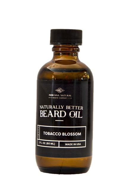 Montana Natural Shave Company Naturally Better Beard Oil Tobacco Blossom 2 oz | Naturally Montana