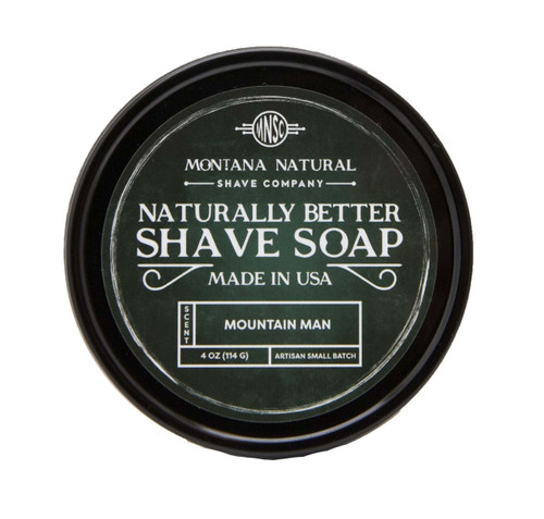 Montana Natural Shave Company Naturally Better Shave Soap Mountain Man 4 oz | Naturally Montana