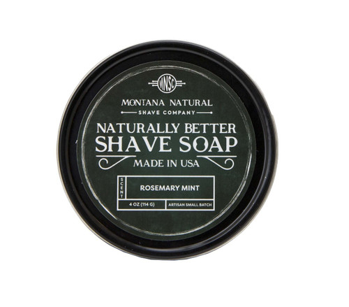 Montana Natural Shave Company Naturally Better Shave Soap Rosemary Mint 4 oz | Naturally Montana