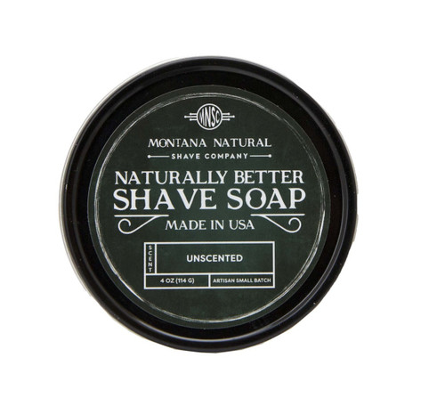Montana Natural Shave Company Naturally Better Shave Soap Unscented 4 oz | Naturally Montana
