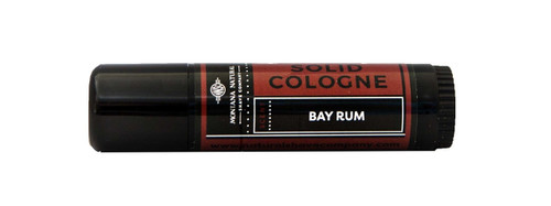 Montana Natural Shave Company Solid Cologne Bay Rum .5 oz roll-on tube   Naturally Montana
