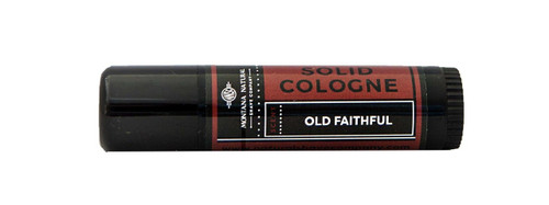 Montana Natural Shave Company Solid Cologne Old Faithful .5 oz roll-on tube | Naturally Montana