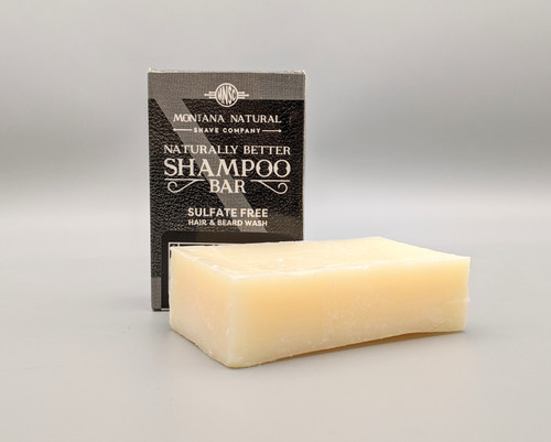 Montana Natural Shave Company Naturally Better Shampoo Bar Unscented 4.5 oz | Sulfate Free | Naturally Montana