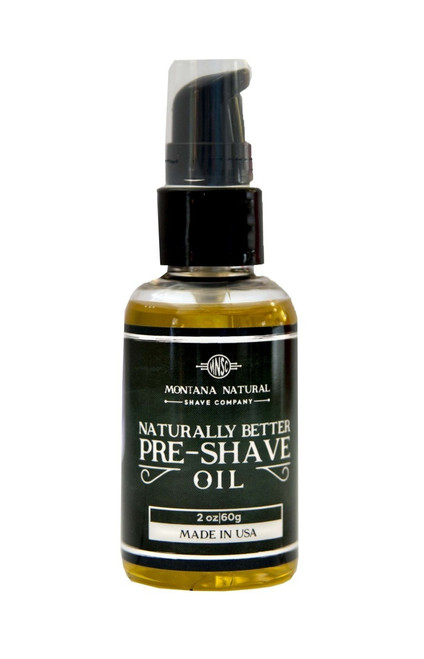 Montana Natural Shave Company Naturally Better Pre-Shave Oil 2 oz | Naturally Montana