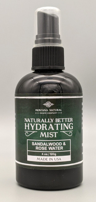 All Natural Hydrating Mist Toner - Sandalwood & Rose Water