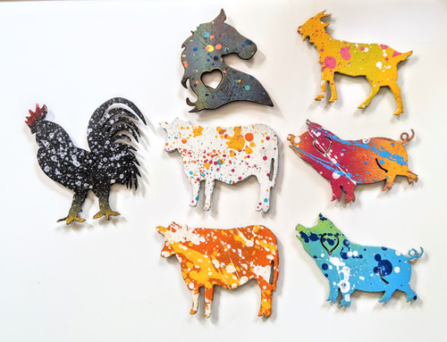 Cut N Rust | Farm Animal Magnets - Metal | Naturally Montana
