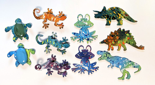Cut N Rust | Amphibians, Reptiles, & Dinosaur Magnets - Metal | Naturally Montana