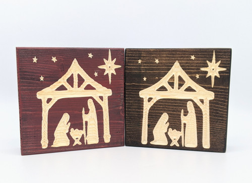 Knotty Pine Woodworks | Manger Scene Blocks | Naturally Montana | Holiday Decor