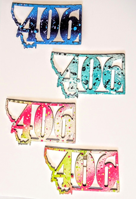 406 Magnets Alone | 406 Gifts | Cut N Rust | Montana Metal Magnets | Montana Gifts