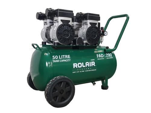 ROLAIR JC50WH AIR COMPRESSOR QUIET OIL FREE 3HP