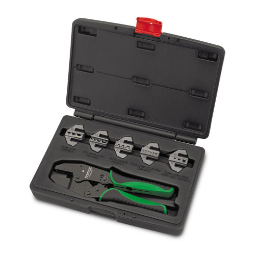 Toptul 6 Piece interchangeable ratchet crimping kit