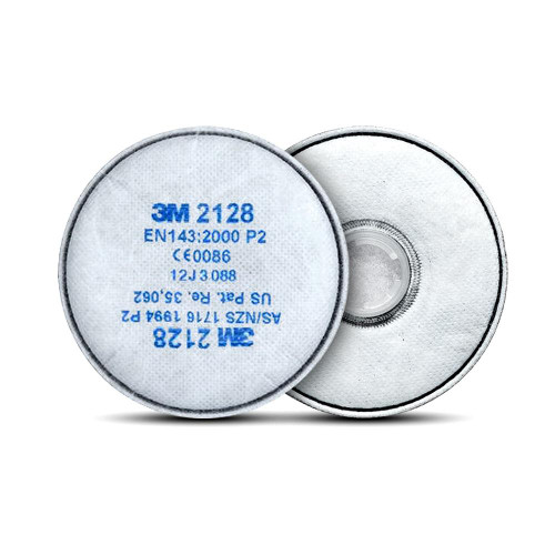 3M 2128/10 10-Pairs Particulate Filter GP2 with Nuisance Level Organic Vapour/Acid Gas Relief
