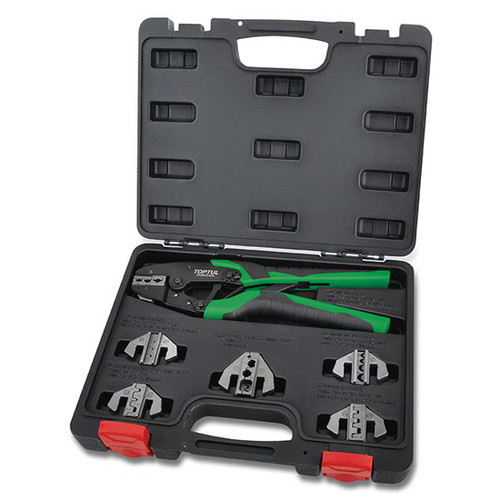 7PCS Quick Interchangeable Ratchet Crimping Tool Kit