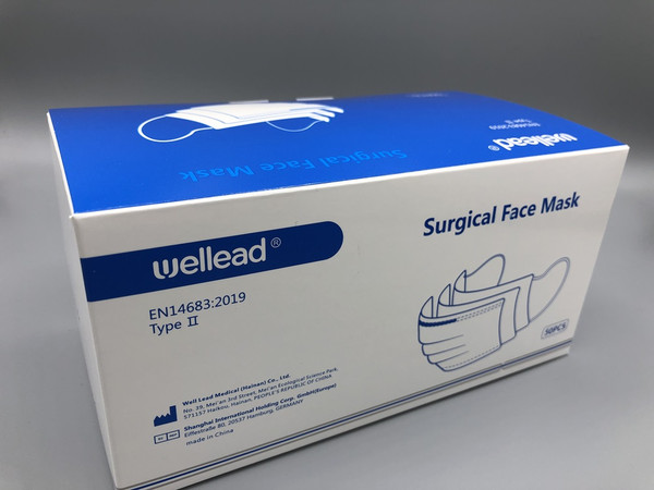 Wellead Surgical face Mask 50 pack