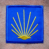 Camino de Santiago Pilgrim St. James Scallop Shell Cloth Patch Wine Skin