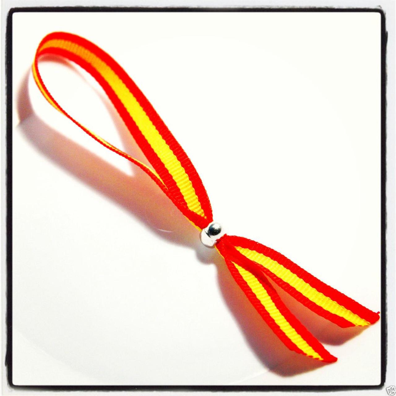 Spanish National Flag Wristband Spain Espana Ribbon ...