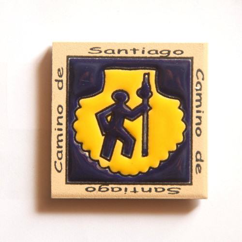 Camino de Santiago Pilgrim Tile Way Of St. James Fridge magnet (2 of 5)
