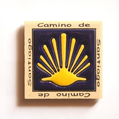 Camino de Santiago Pilgrim Tile Way Of St. James Fridge magnet (3 of 5)