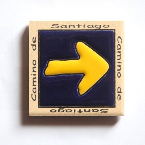 Camino de Santiago Pilgrim Tile Way Of St. James Fridge magnet (4 of 5)
