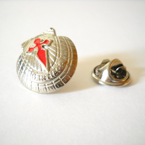 Camino de Santiago Scallop Shell St James Cross Pilgrim lapel Pin