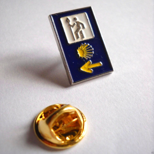 Camino de Santiago St. James 3 Road Marker Pilgrim Lapel Pin