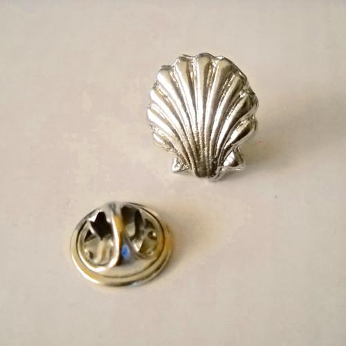 Silver Scallop Shell pin