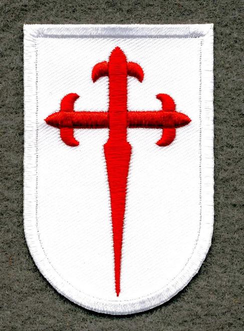 Camino de Santiago St. James Cross Pilgrim Cloth Patch