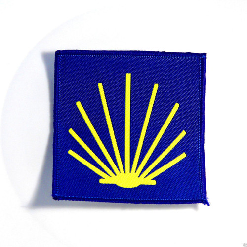 Camino de Santiago Pilgrim St. James Scallop Shell Road Marker Cloth Patch