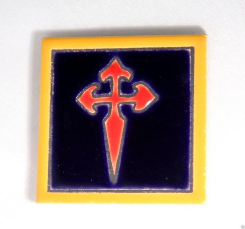 Camino de Santiago Pilgrim St James Cross Fridge magnet