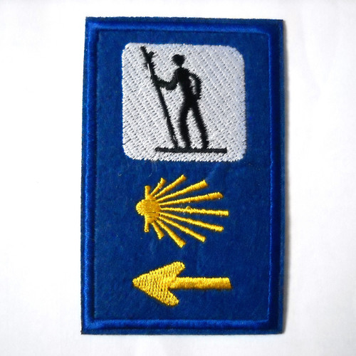 Camino de Santiago Pilgrim Cloth Patch St James 3 Road Marker