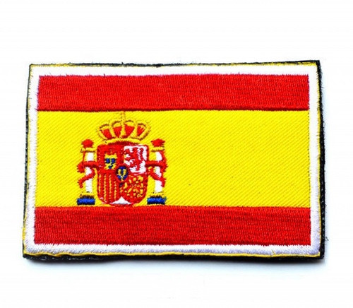 Spain National Flag Embroidered Sew On Parche Spanish Cloth Badge Patch New