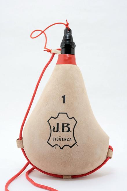 Spanish Bota De Vino Leather Bag Wineskin (Natural) Made In Spain