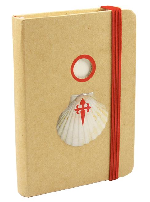 camino de Santiago Pilgrim Souvenir Scallop Shell notebook / Diary