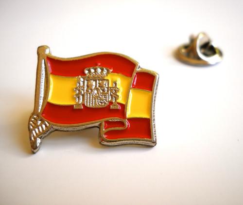Spanish Flag Lapel Pin Spain España Emblem